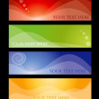 Vector de stock : Colored hather concepts
