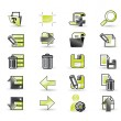 Stock Vector: Icons set for apps