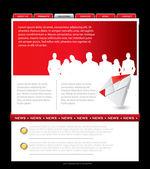 Simple website template — Stock Vector