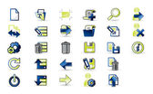 Icons set for apps — Stock Vector