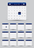 2013 monthly Calendar design for mobile phone — Stock Vector