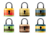 Colored Padlock set — Stock Vector