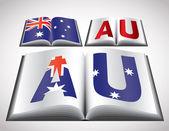 национальная концепция флаг австралии — Cтоковый вектор