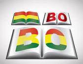 национальная концепция флаг боливии — Cтоковый вектор