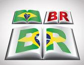 национальная концепция флаг бразилии — Cтоковый вектор