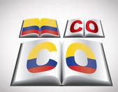 национальная концепция флаг колумбии — Cтоковый вектор