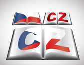 National Flag concept of Czech Republic — Stock Vector
