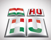 National Flag concept of Hungary — Stock Vector