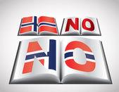 национальная концепция флаг норвегии — Cтоковый вектор