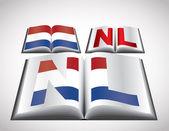 национальная концепция флаг нидерланды — Cтоковый вектор