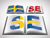 национальная концепция флаг швеции — Cтоковый вектор