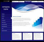 Plantilla de sitio web simple — Vector de stock
