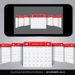 Calendar interface concept — Stock Vector