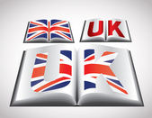 National Flag concept of United Kingdom — Vettoriale Stock