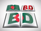 National Flag concept of Bangladesh — Stock Vector