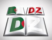National Flag concept of Algeria — Stock Vector