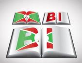 Nationalflagge konzept von burundi — Stockvektor