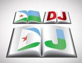 吉布提的国旗概念 — 图库矢量图片