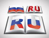 Konzept der nationalflagge der russischen föderation — Stockvektor