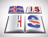 Concept de drapeau national d'islande — Vecteur
