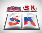 Concept de drapeau national de la slovaquie — Vecteur