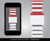Calendar interface concept — Stock Vector
