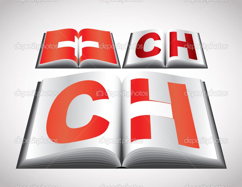 瑞士的国旗概念 — 图库矢量图片