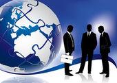 Global business meeting konzept — Stockvektor