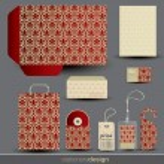 Stationery design set — Stock Vector