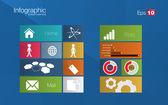 Metro stijl infographic concept — Stockvector