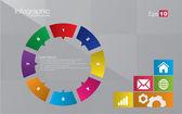 Metro-stil infographic koncept — Stockvektor