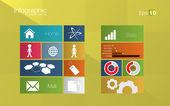 Koncept infographic stylu metro — Stock vektor