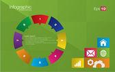 Metro style infographic concept — Stock Vector