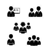 Office people icons set. — Stock Vector