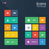 Icon concepts in metro style — Stock Vector