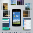 Stock Vector: UI concept for Weather App