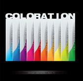 Elemento de design vertical - conceito de coloração — Vetorial Stock