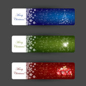 Christmas banner concepts — Stock vektor