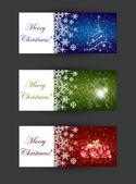 Jul banner begrepp — Stockvektor