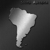 South America map — Stockfoto