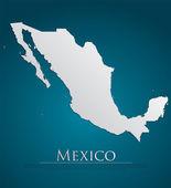 Vector Mexico Map card paper — Stock Vector