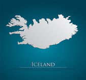 Vector Iceland Map card paper — Stock Vector