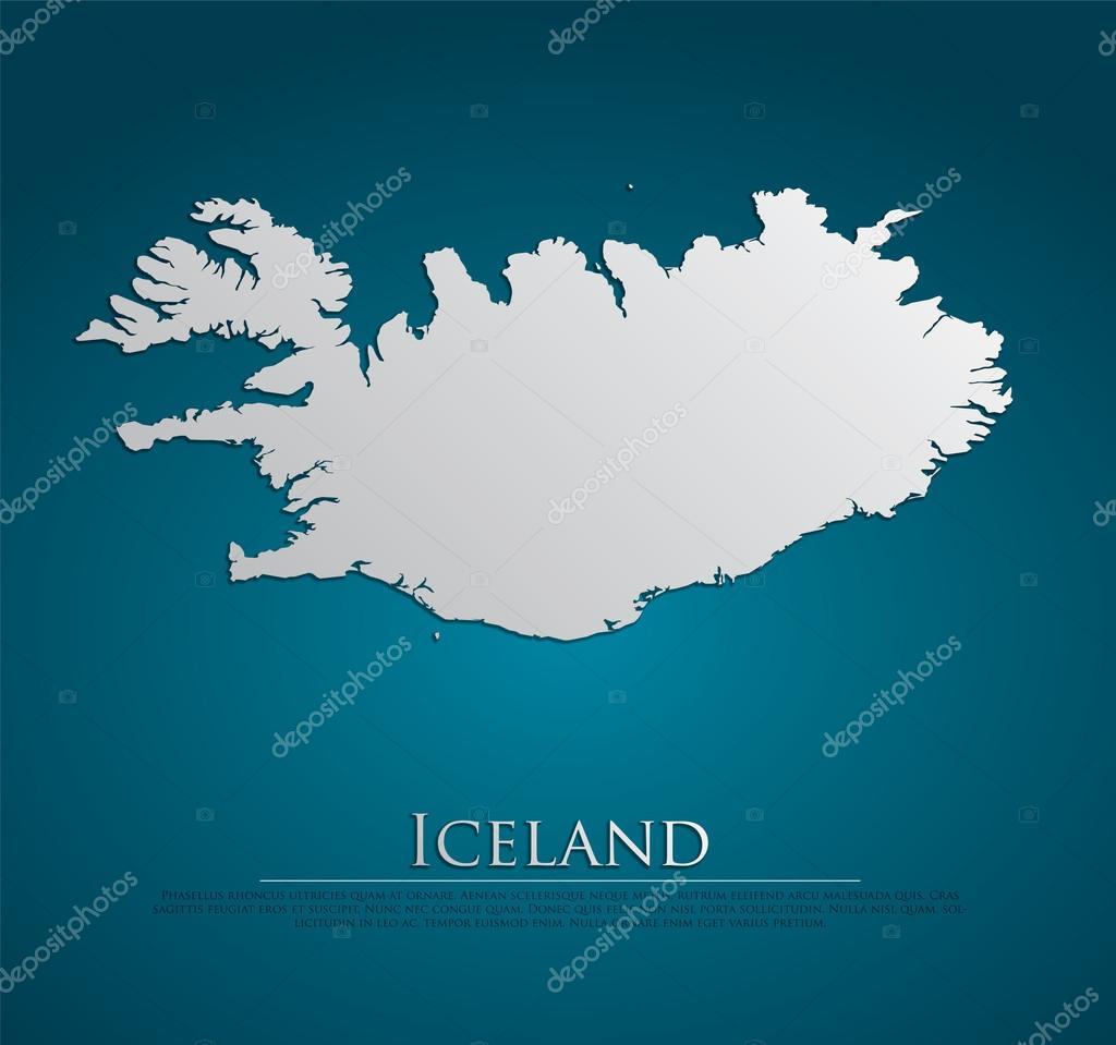 矢量冰岛地图卡纸 — 图库矢量图像08
