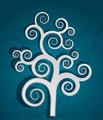 Dekorativa träd koncept — Stockvektor