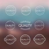 Colección de etiquetas de calidad y garantía de calidad — Vector de stock