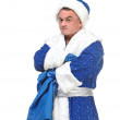 Travesty Actors Genre Depict Santa Claus — Stock Photo
