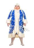 Travesty Actor Genre Depict Snow Maiden — Stock Photo