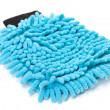 Stock Photo: Blue Microfiber Cleaner Glove