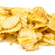 Grooved Potato Chips — Stock Photo
