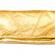 Royalty-Free Stock Photo: Luxury gold leather clutch bag